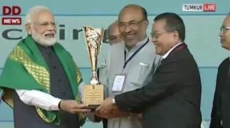 Krishi Karman Award, Krishi Karman Award 2017-18, Manipur Krishi Karman Award, N Biren Singh, Manipur news, Northeast news, Indian Express