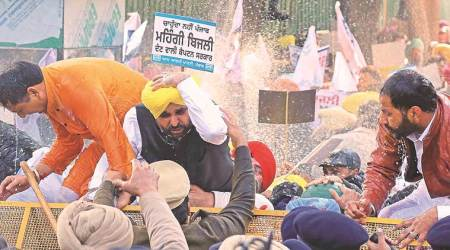 Bhagwant Maan, Harpal Cheema, APP electricity protest, , APP supporters booked, punjab news, indian express news
