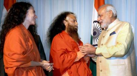 pm narendra modi, pm modi, sadhus, ram temple, ayodhya verdict, ram mandir, article 370, citizenship amendment act, caa, ram janmabhoomi, indian express