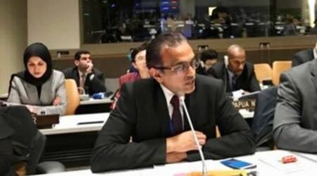 india pakistan rivalry at the un, india at the un, india reacts to pakistan comments on kashmir, indian express