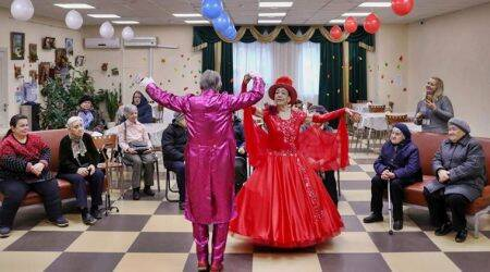 russian octogenarian dancers, Maya Kachina, Lev Kitayev, moscow news, russia news, moscow dancer couple, world news, indian express