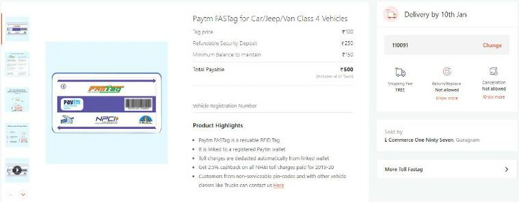 fastag paytm, paytm, fastag, buy fastag, how to activate fastag, fastag commercial vehicle