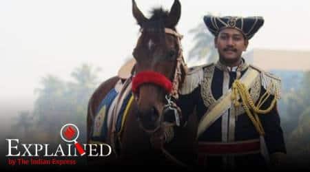 Mumbai police mounted unit, mounted policemen, what is mounted police, Manish Malhotra, mounted police units in India, indian express, indian express explained