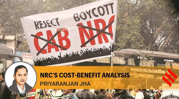 caa protests, nrc protests, nrc cost, indian economy, assam nrc, nrc protests, indian express news
