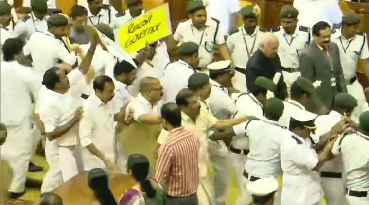 Kerala: UDF MLAs protest Guv' policy speech, chant 'repeal CAA' slogans