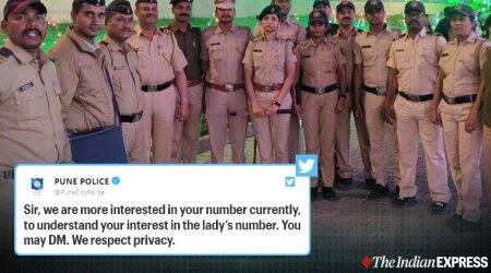 Pune Police, Pune Police viral tweet, Pune, Twitter reactions, Social media pune police, Trending, Indian Express news