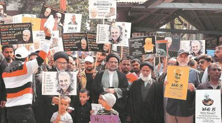 Protest in Pune to condemn General Soleimani's killing in US drone strike