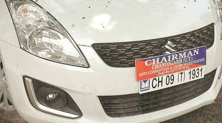 chandigarh city news, chandigarh news, chandigarh traffic rules, highcourt on car stickers, punjab and haryana highcourt on car stickers, indian express