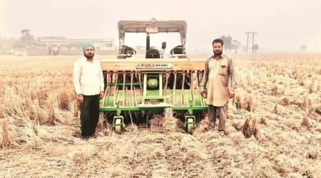 Punjab farmers, Happy Seeders, Punjab Happy Seeders, what is Happy Seeders, Punjab farming, indian express