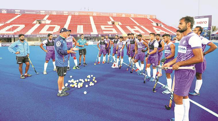 Hockey players start 'socially-distanced' training after two-month pause
