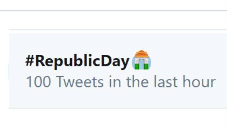 Twitter, Republic Day, Happy Republic Day, Twitter Republic Day emoji, #RepublicDay, Twitter new emoji, 71st Republic Day