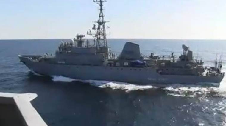 US naval ship, US Russia ship collision, USS Farragut collision, USS Farragut Russia ship collision, US Iran tensions, US sanctions on Iran, World news, Indian Express