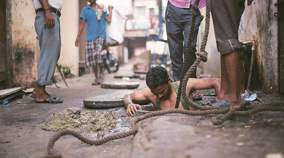 manual scavenging, manual scavenging bill, manual scavenging more stringent, india news, Indian Express