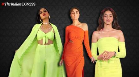 neon outfit ideas, bollywood in neon. latest ananya panday photos, kareena kapoor latest photos, indian express, lifestyle, photos fashion