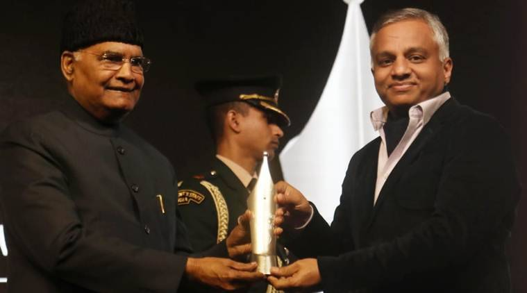 RNG awards, RNG awards 2020, Ram Nath Kovind RNG awards, Raj Kamal Jha RNG award video, Ramnath Kovind Ram Nath Goenka award, indian express news