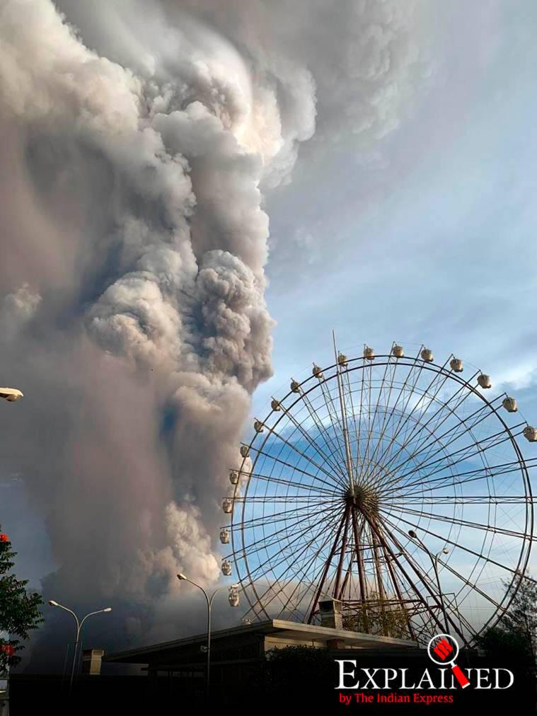 Taal volcano, Taal volcano Philippines, Luzon island, Philippines volcano eruption, what is a complex volcano, Taal volcano latest news, indian express, indian express explained