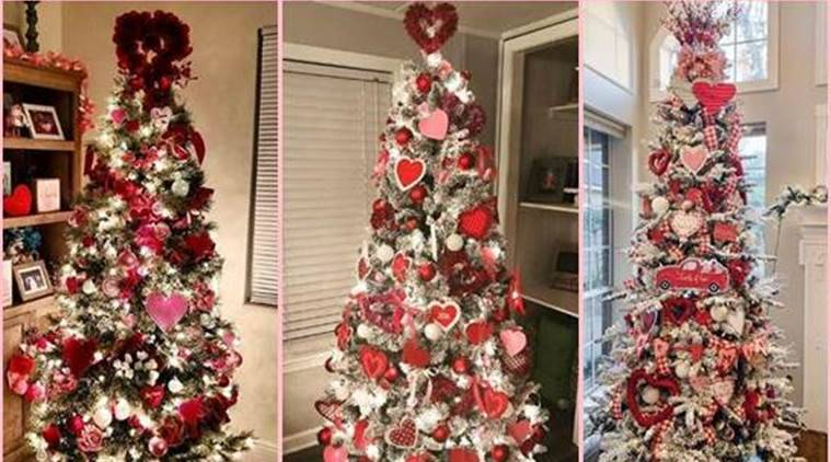 Recycle Christmas Lights 2020 Near Me Netizens upcycle their Christmas trees into 'Valentine's Tree