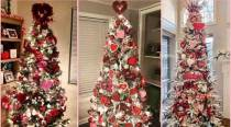Netizens upcycle their Christmas trees into 'Valentine's Tree', pictures and videos take internet by storm