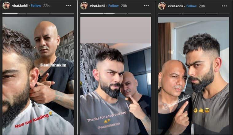 virat kohli, virat kohli new hair cut, kohli new look, aalim hakim, aalim hakim virat new look, viral news, sports news, cricket news, indian express