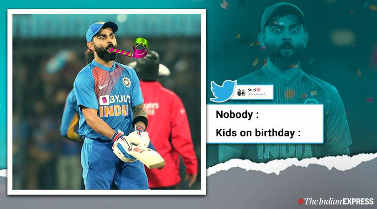 Virat kohli, Virat kohli memes, India vs Sri Lanka, Virat Kohli reaction, Shreyas Iyer six virat reaction, Virat shock reaction memes, Virat viral memes, Funny news, Cricket news, Sports news, Indian Express