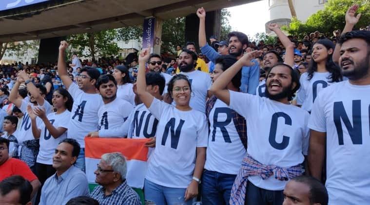 NO NRC, NO NPR, India vs Australia NRC protests, Protests in India vs Australia CAA protest, Wankhede CAA protest, Ind vs Aus CAA protest, CAA protest, TISS CAA protest, cricket news