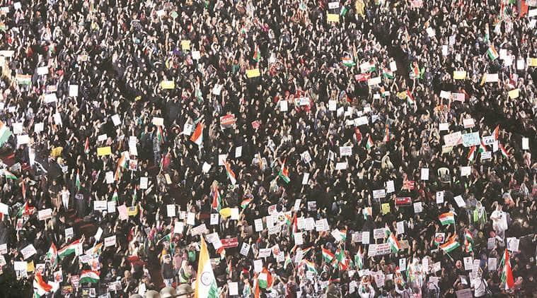 CAA protest, citizenship amendment act, Women hold anti-CAA rally, mumbai news, mumbai city news, maharashtra news, indian express news