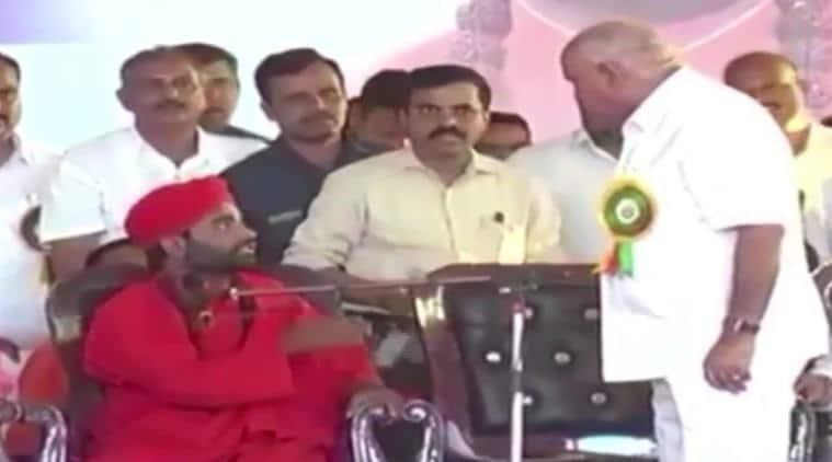 bs Yediyurappa, Yediyurappa angry on stage, Yediyurappa lingayat leader, Vachanananda Swami, lingayat community, karnataka cabinet, bengaluru news
