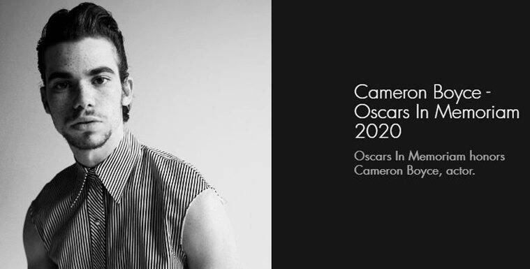 Academy explains omission of Cameron Boyce from In Memoriam section