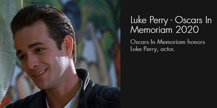 Academy explains omission of Luke Perry from In Memoriam section