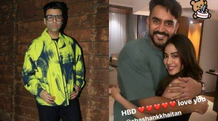 Karan Johar, Janhvi Kapoor, Varun Dhawan and others attend Shashank Khaitan's birthday party