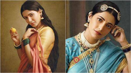 samantha akkineni, shruti haasan, ramya krishnan and others recreate ravi varma painting
