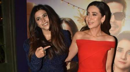 Karisma Kapoor bonds with Ekta Kapoor at the trailer launch of Mentalhood