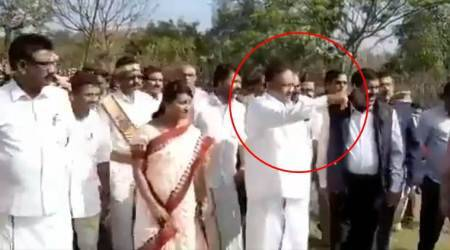 Tamil Nadu Forest Minister under fire for making tribal children remove his slippers