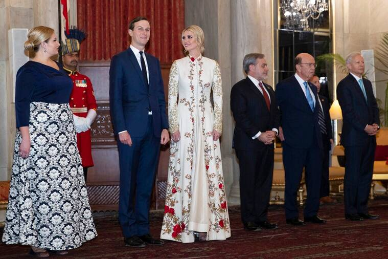 Ivanka Trump wows in an ivory gown at the Rashtrapati