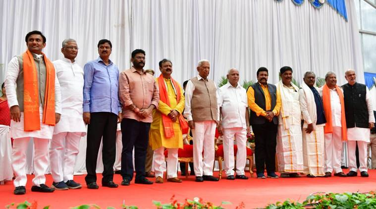 B S Yediyurappa announces portfolios for 10 Cong-JD(S) turncoats