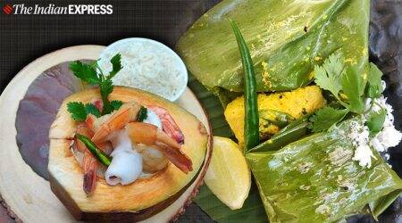 Daab Chingri recipe, indianexpress.com, bengali dish recipes for dinner, indianexpress, Paturi recipe, what is daab chingri, what is paturi, how to make paturi recipe, how to make daab chingri, bengali dishes, Fish Paturi, Fish Paturi recipe, steamed rice, macher paturi recipe,