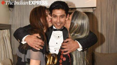 Bigg Boss 13 winner Sidharth Shukla celebrates