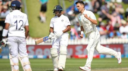 Kyle Jamieson batting, Tim Southee, Virat Kohli disappointed, Prithvi Shaw, Cheteshwar Pujara sad, Trent Boult, India vs New Zealand 1st Test, IND vs NZ 1st Test, India tour of New Zealand 2020