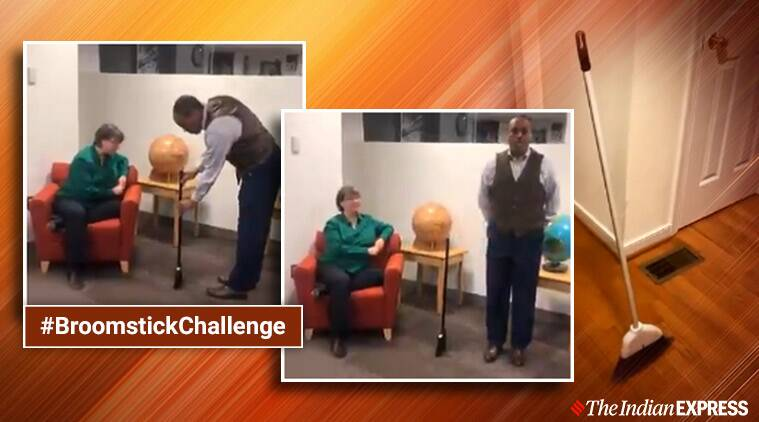 NASA, broomstick challenge, NASA broomstick challenge viral video