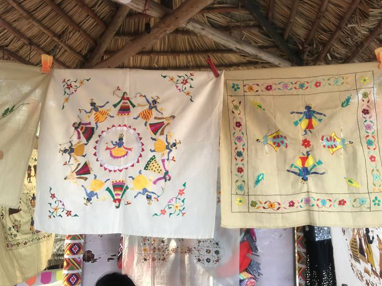 Chamba Rumal, chamba rumal surak kund mela, surajkund mela 2020, suraj kund mela art and craft, indian express