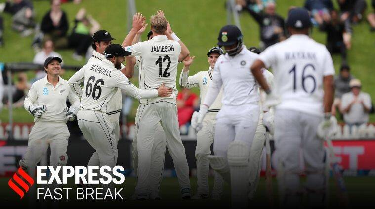 INDvNZ TEST, INDvNZ TEST day 1, Day 1 of India vs New Zealand test, India score, Jamieson bowling
