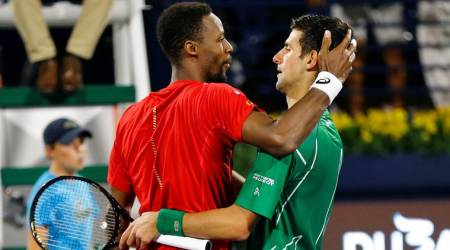 Novak Djokovic, Dubai Open 2020, Novak Djokovic vs Gael Monfils, Gael Monfils vs Novak Djokovic, Novak Djokovic beats Gael Monfils, Dubai Open final