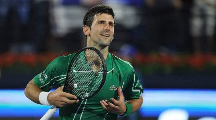 Novak Djokovic, Novak Djokovic Dubai Open, Dubai Open 2020, Novak Djokovic vs Malek Jaziri, Novak Djokovic beats Malek Jaziri, tennis news