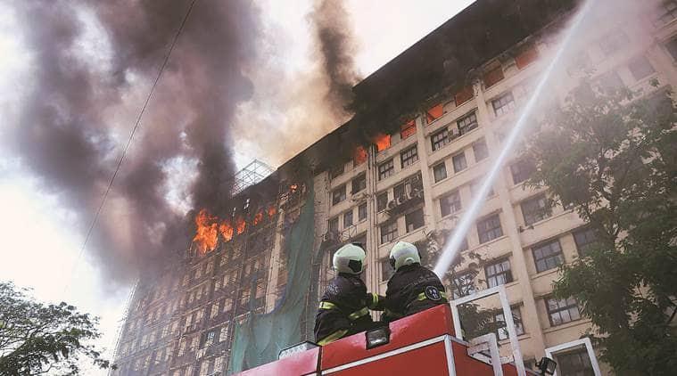 GST Bhavan fire, Goods and Services Tax, Mumbai fire, mumbai news, maharashtra news, indian express news