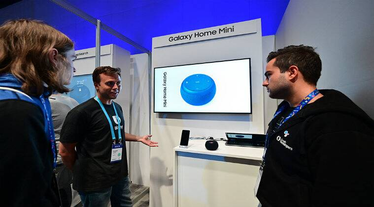 samsung galaxy home mini, galaxy home mini launch day, samsung Home Mini vs Amazon Echo Dot, Galaxy Home Mini price in India