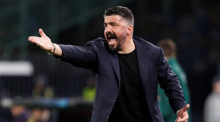 Napoli coach says they'll use 'helmets and armour' at Barcelona