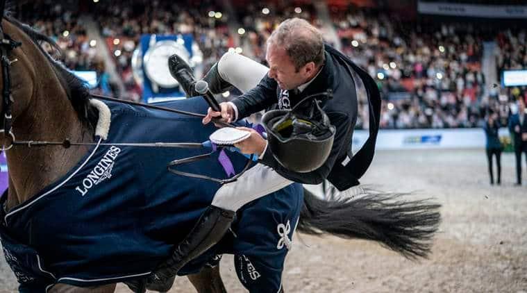 Geir Gulliksen, Geir Gulliksen falls off horse video, Geir Gulliksen horse, Geir Gulliksen equestrian, Geir Gulliksen Norway equestrian, FEI World Cup, sports news