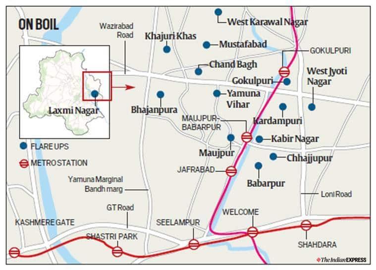 Chand Bagh violence, Bhajanpura violence, Delhi violence, Delhi police, Rapid action force, Delhi news, indian express news
