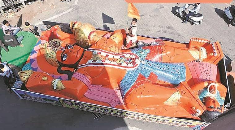 Sankat Mochan Temple Bhilwara, sngam Ganga bath, Lord Hanuman statue, Hanuman idol, indian express news