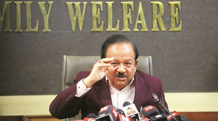 coronavirus, coronavirus outbreak, coronavirus cases, coronavirus cases in india, Harsh Vardhan, coronavirus cure, coronavirus china, indian express